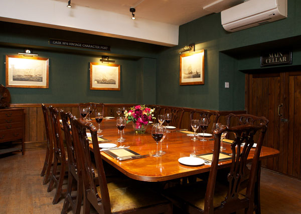 Private dining room at Boot and Flogger