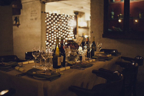 Private dining space at Cooperage