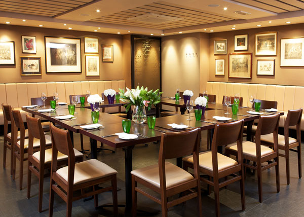 Private dining room at Davy's at Woolgate