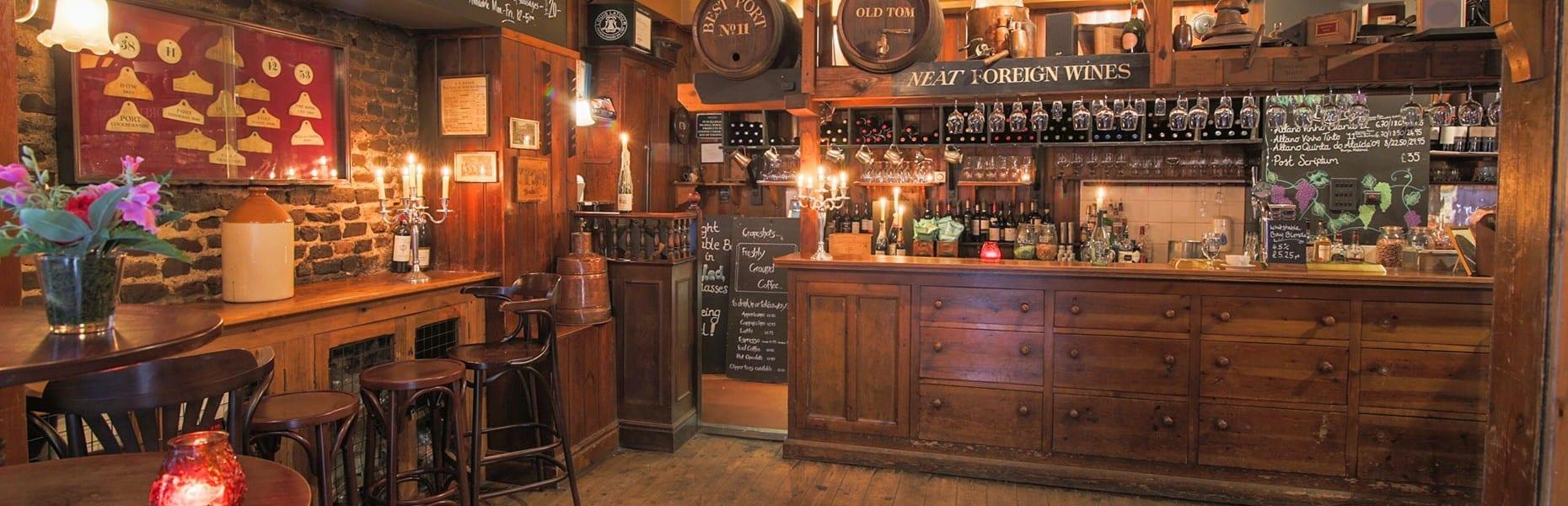 Grapeshots bar area