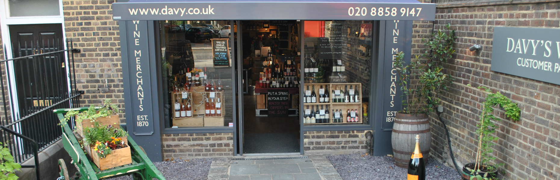 Wine Shop Website Straightened