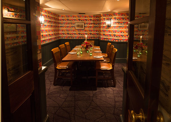 Bangers private dining room