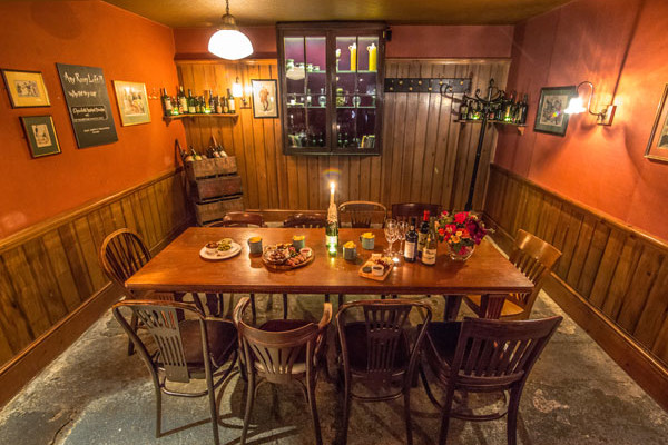 Private dining room at Mughouse
