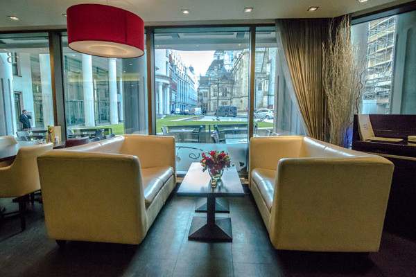 Comfortable, elegant seating at Davy's at Woolgate