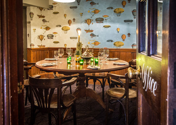 Private dining room at Bangers