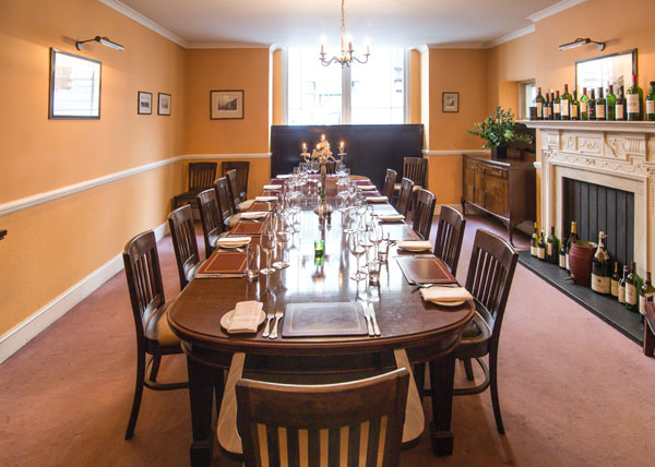 Private dining room at Davy's at St.James's
